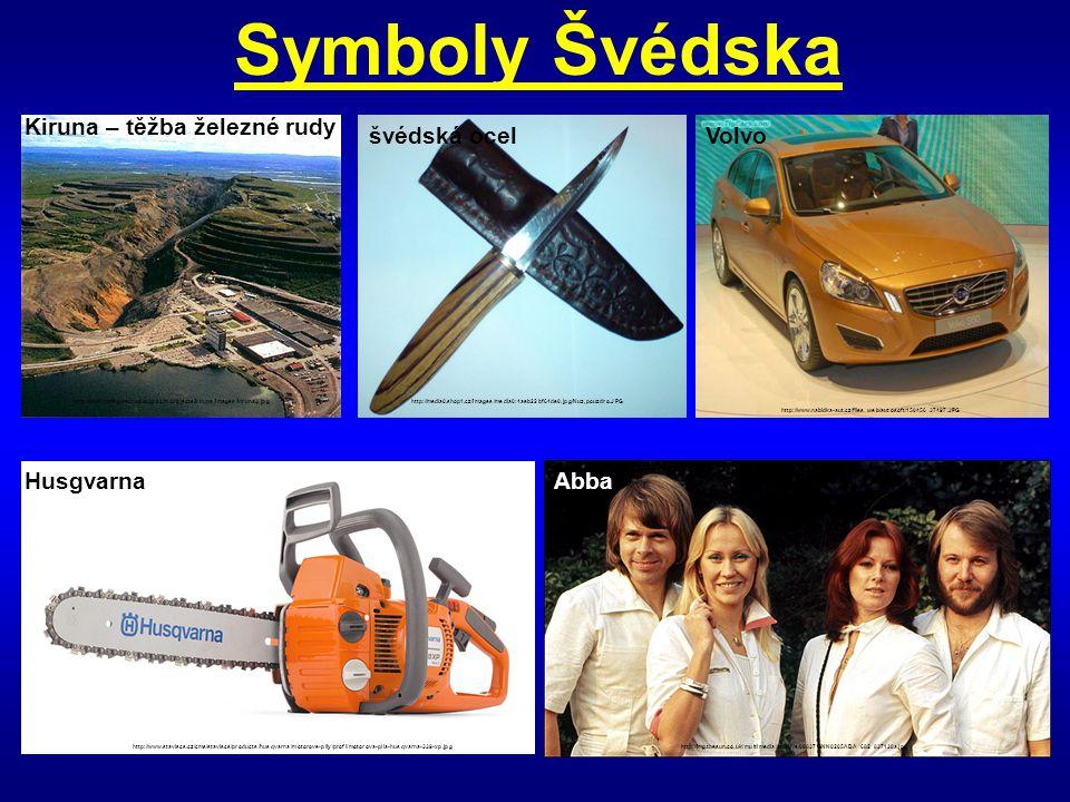 Symboly Švédska http://media0.shop1.cz/images/media0:4aeb22bf64de0.jpg/Nuz,pouzdro.JPG švédská ocel Kiruna – těžba železné rudy http://www.mining-tech