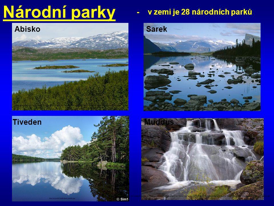 Národní parky - v zemi je 28 národních parků Abisko http://1.bp.blogspot.com/-HcmNJf7y9-k/TWeyLm5oEhI/AAAAAAAAACU/m2XQZC3aVhY/s1600/n%25C3%25A1rodn%25