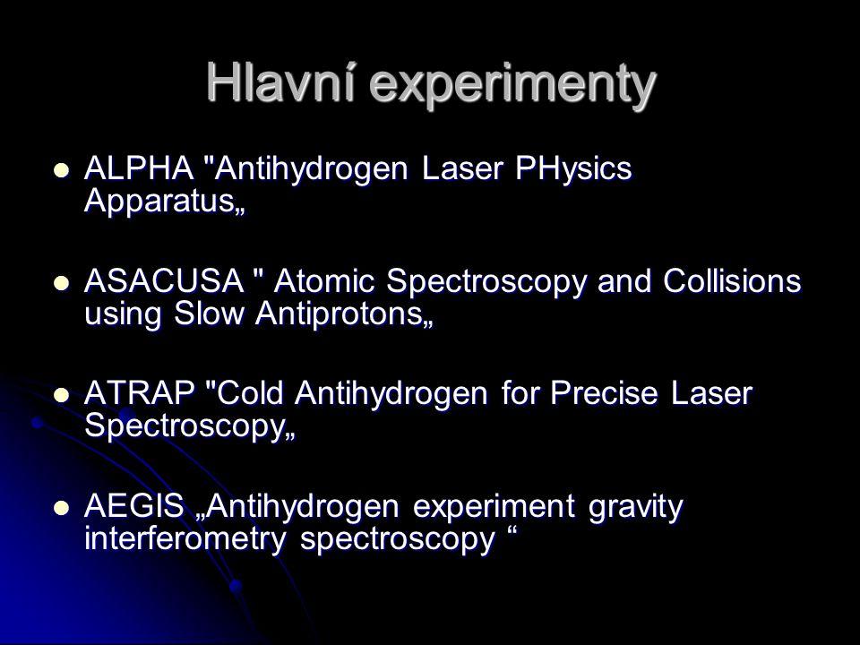 Hlavní experimenty ALPHA