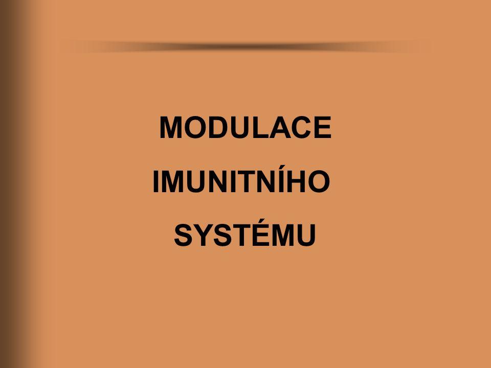 MODULACE IMUNITNÍHO SYSTÉMU