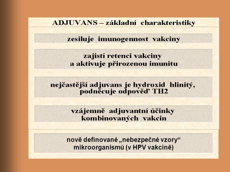 """nově definované """"nebezpečné vzory"""" mikroorganismů (v HPV vakcině)"""