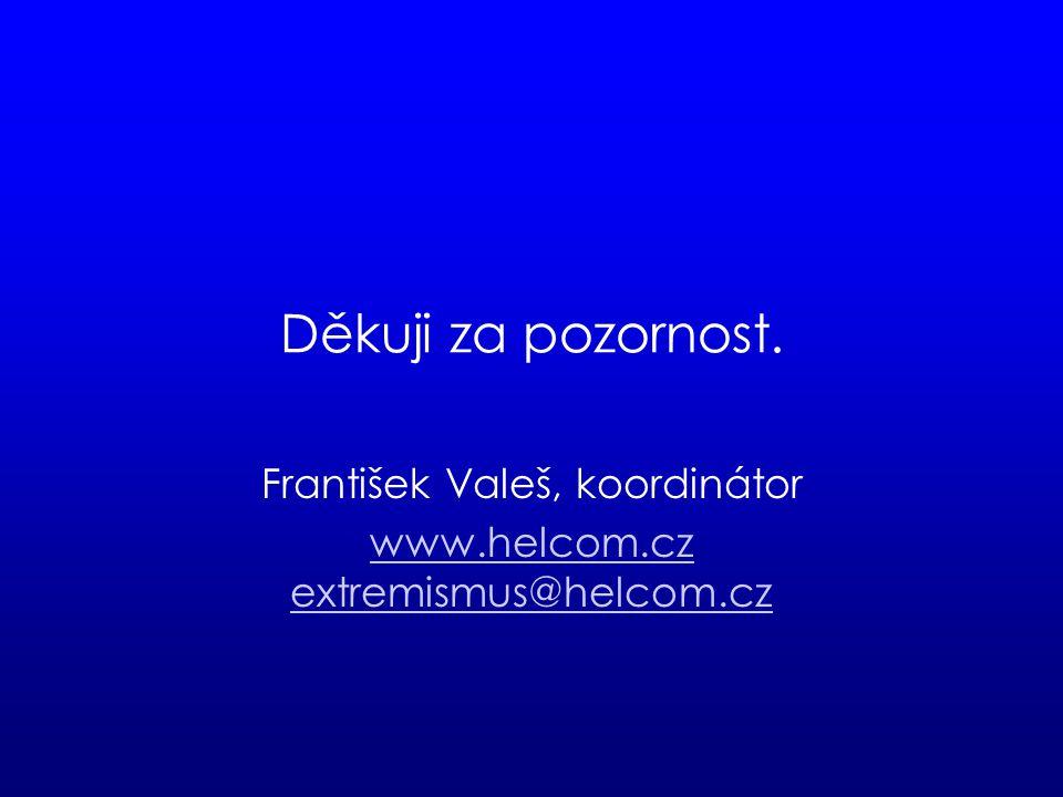 Děkuji za pozornost. František Valeš, koordinátor www.helcom.cz extremismus@helcom.cz