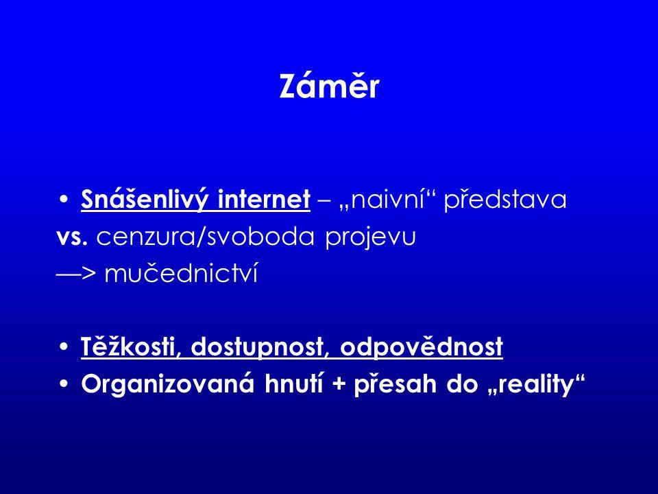 """Záměr Snášenlivý internet – """"naivní představa vs."""
