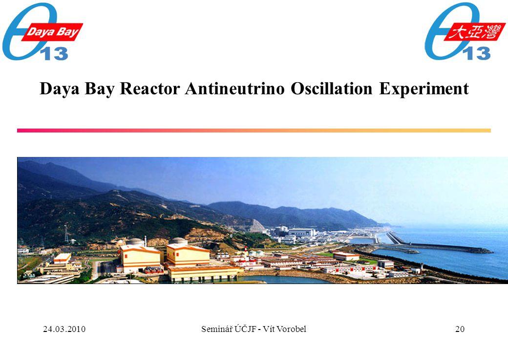 20 Daya Bay Reactor Antineutrino Oscillation Experiment 24.03.2010Seminář ÚČJF - Vít Vorobel