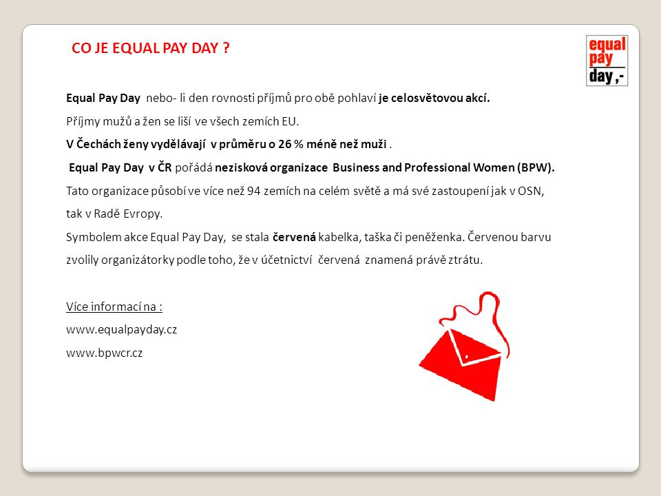 CO JE EQUAL PAY DAY .
