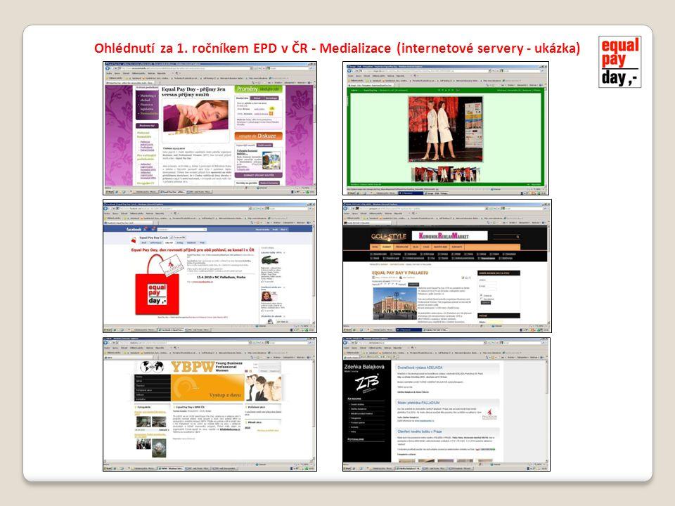 Ohlédnutí za 1. ročníkem EPD v ČR - Medializace (internetové servery - ukázka)