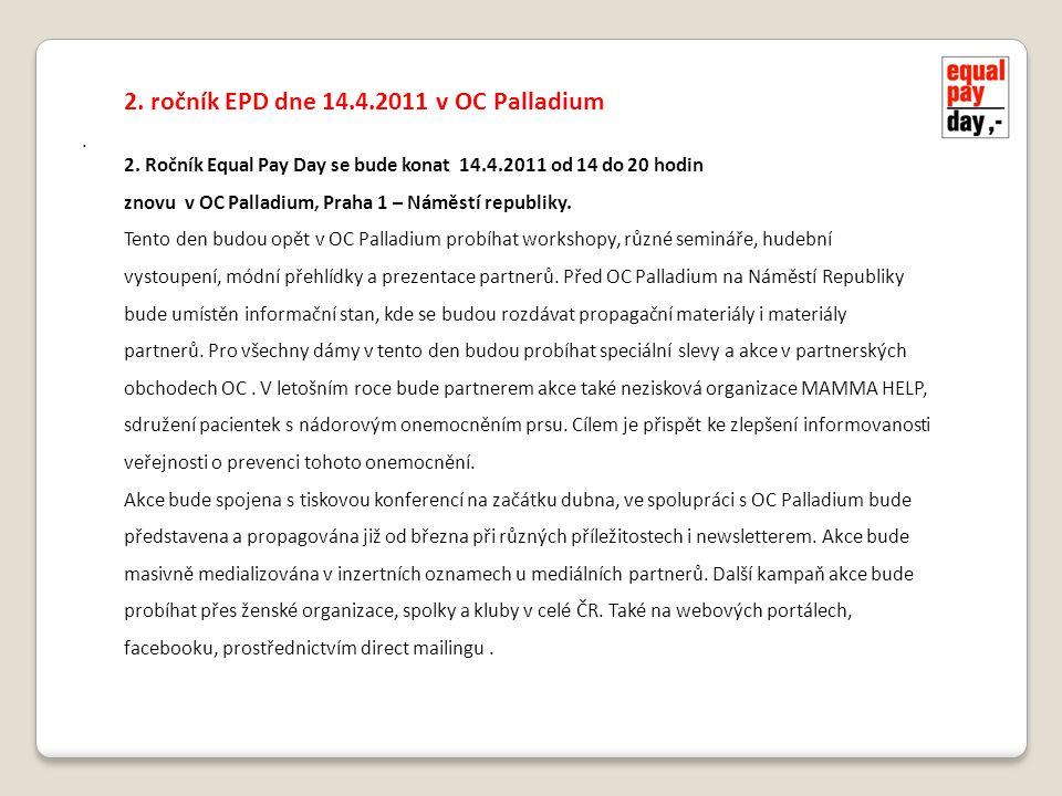 2. ročník EPD dne 14.4.2011 v OC Palladium 2.