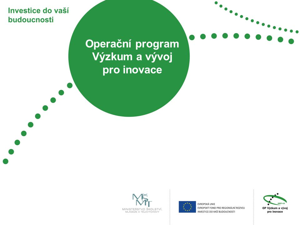 Základní údaje o programu OP VaVpI