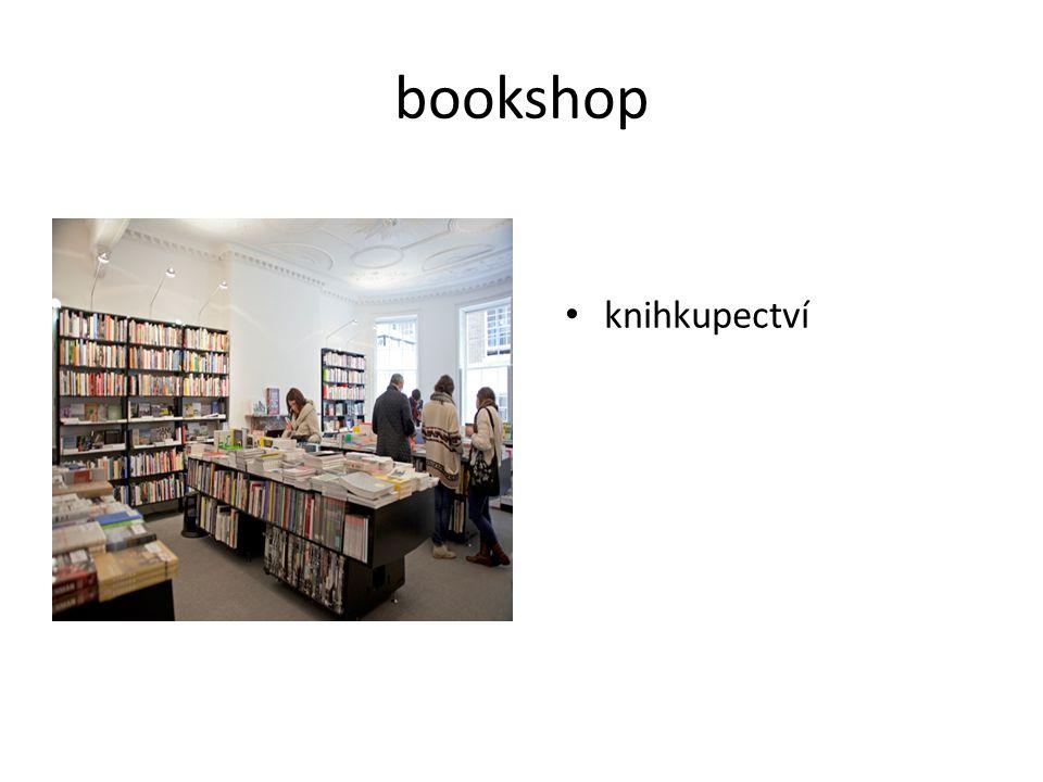 bookshop knihkupectví