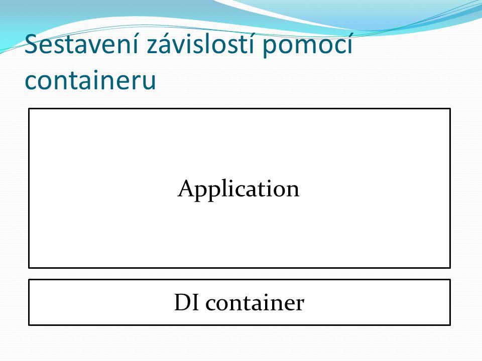 Sestavení závislostí pomocí containeru Application DI container