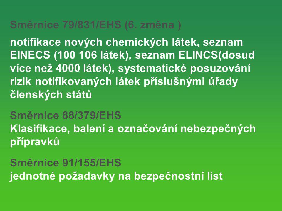 Směrnice 79/831/EHS (6.