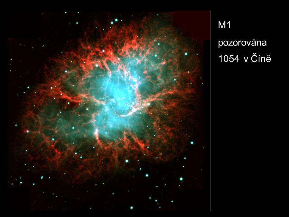M1 pozorována 1054 v Číně
