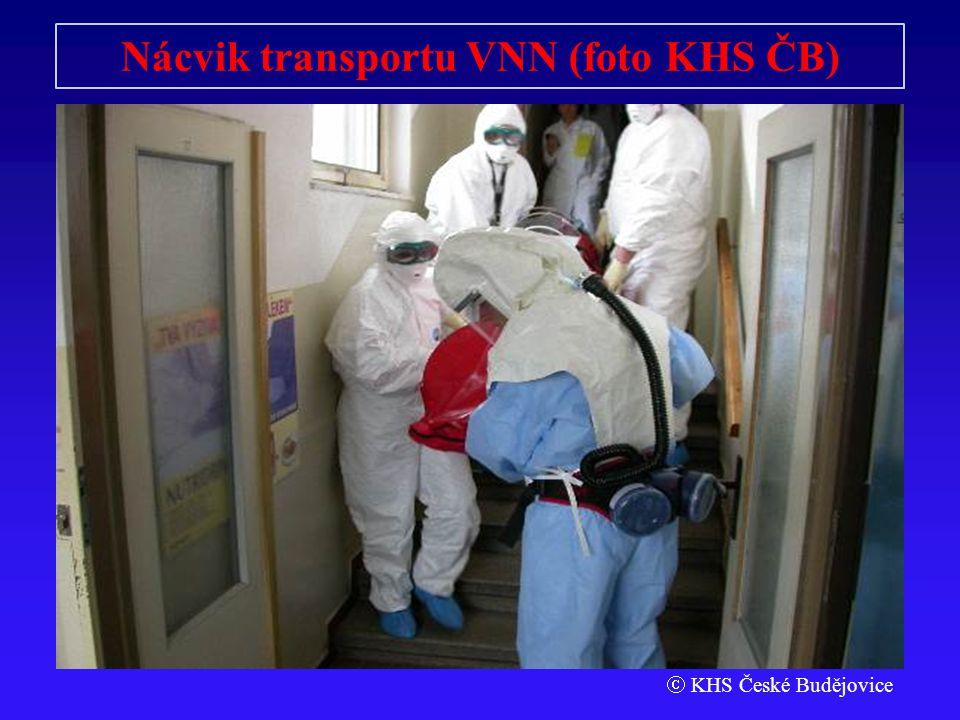 Nácvik transportu VNN (foto KHS ČB)  KHS České Budějovice