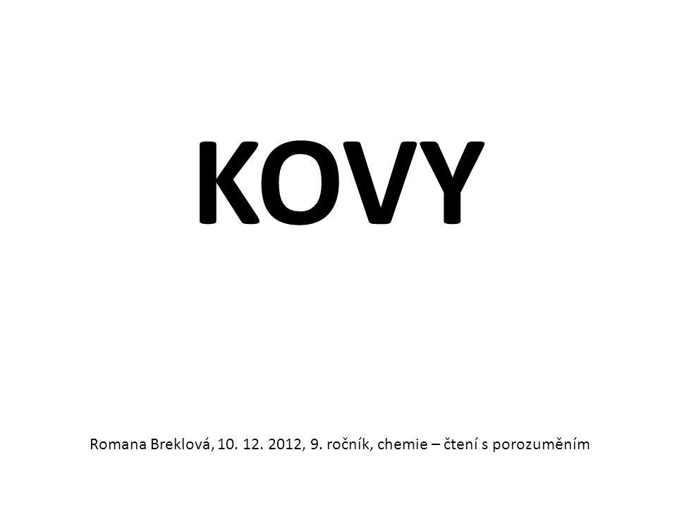 KOVY Romana Breklová, 10. 12. 2012, 9. ročník, chemie – čtení s porozuměním