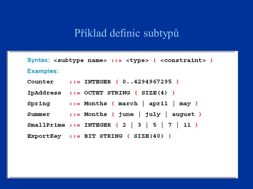 21 Příklad definic subtypů