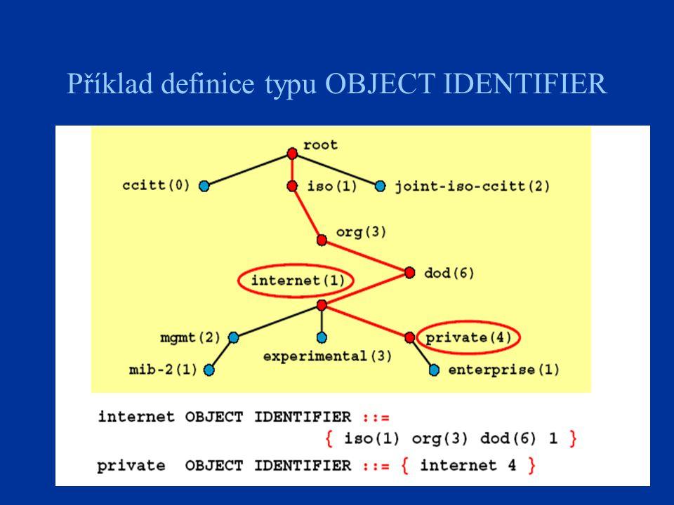 22 Příklad definice typu OBJECT IDENTIFIER
