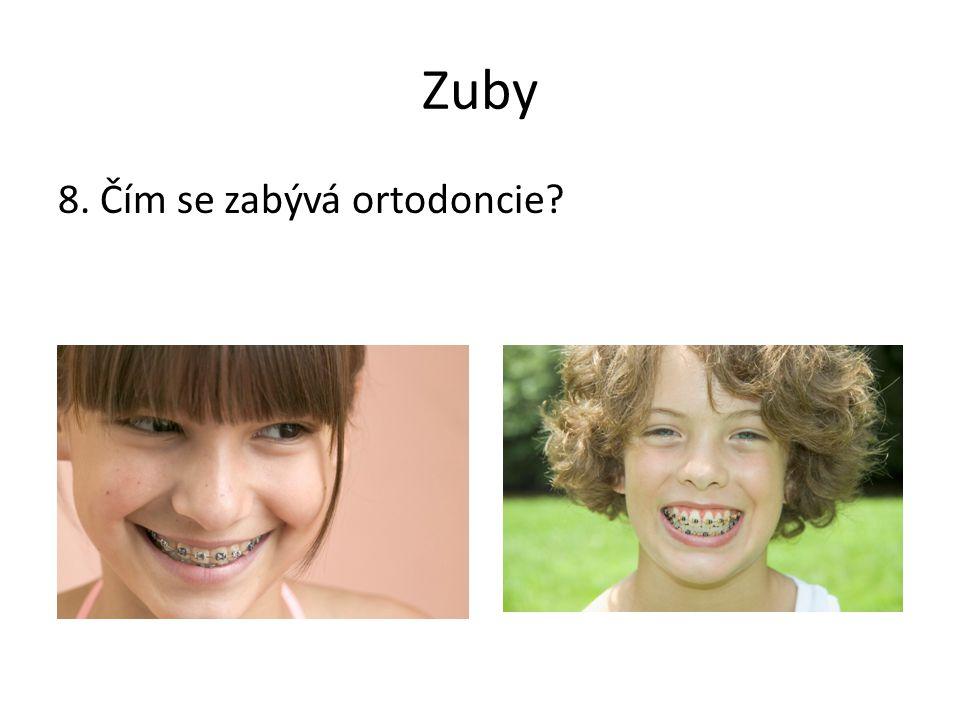 Zuby 8. Čím se zabývá ortodoncie?