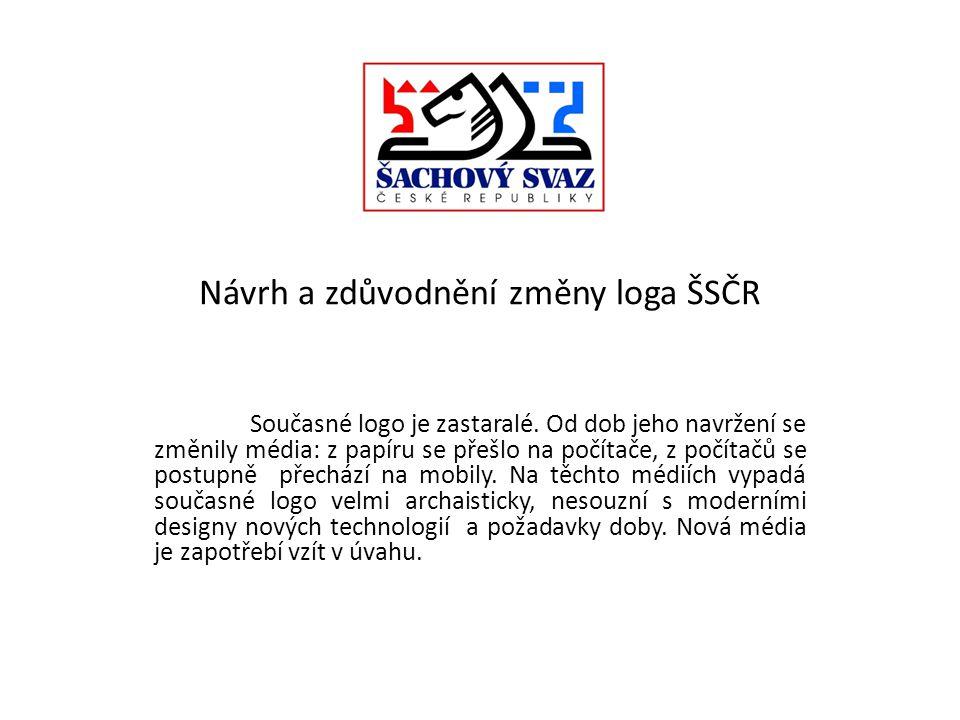 Návrh a zdůvodnění změny loga ŠSČR Současné logo je zastaralé.