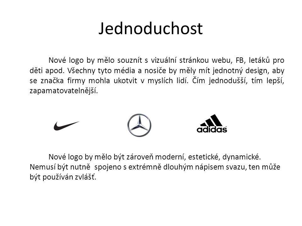 Jednoduchost Nové logo by mělo souznít s vizuální stránkou webu, FB, letáků pro děti apod.