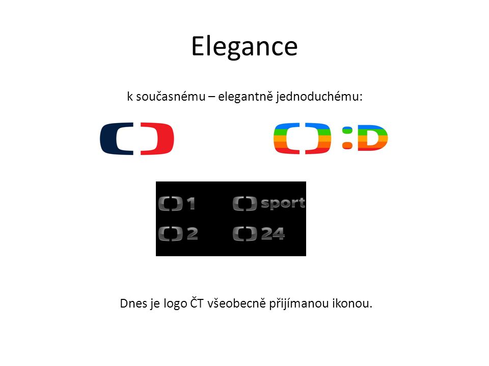 Elegance k současnému – elegantně jednoduchému: Dnes je logo ČT všeobecně přijímanou ikonou.
