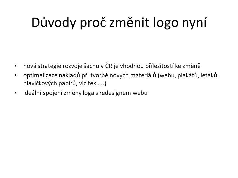 Příklad nevyhovujícího designu loga - současný stav