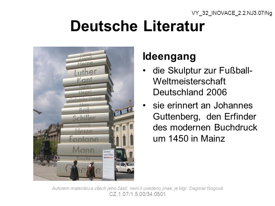 Deutsche Literatur Ideengang Welche Autoren kennt ihr.