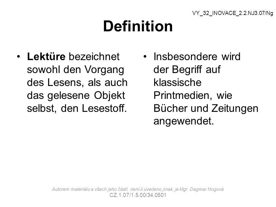 Was kann man lesen.Autorem materiálu a všech jeho částí, není-li uvedeno jinak, je Mgr.