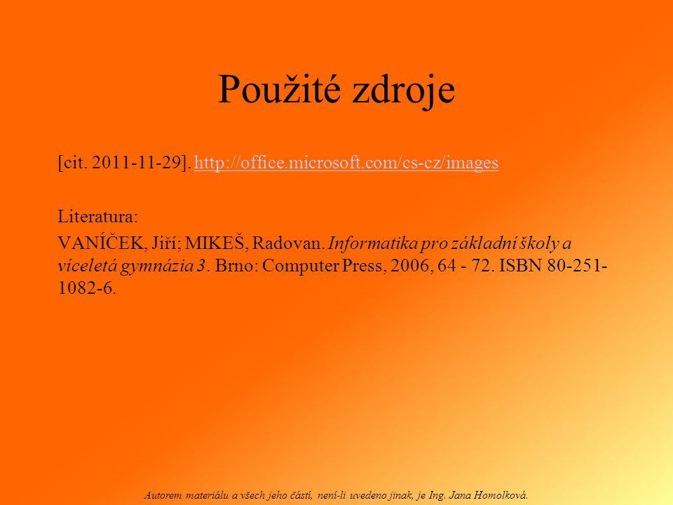 Moje první prezentace Jana Homolková Autorem materiálu a všech jeho částí, není-li uvedeno jinak, je Ing.