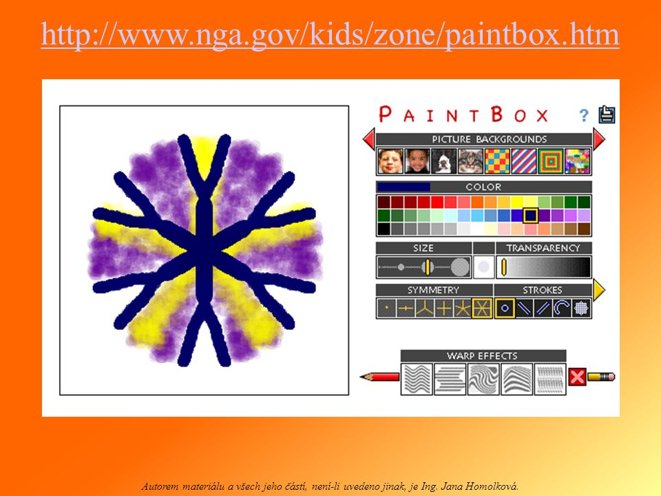 http://www.nga.gov/kids/zone/paintbox.htm