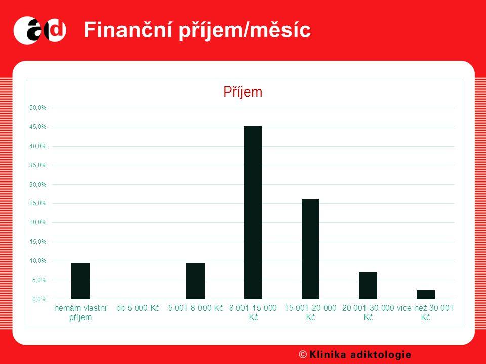 Finanční příjem/měsíc
