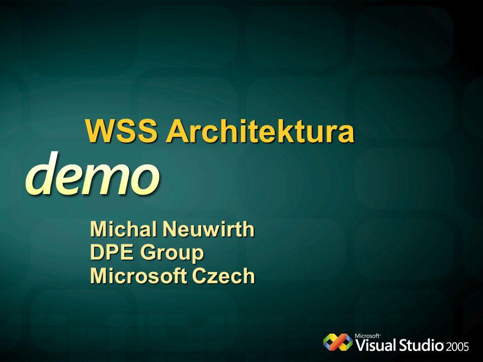 WSS Architektura Michal Neuwirth DPE Group Microsoft Czech