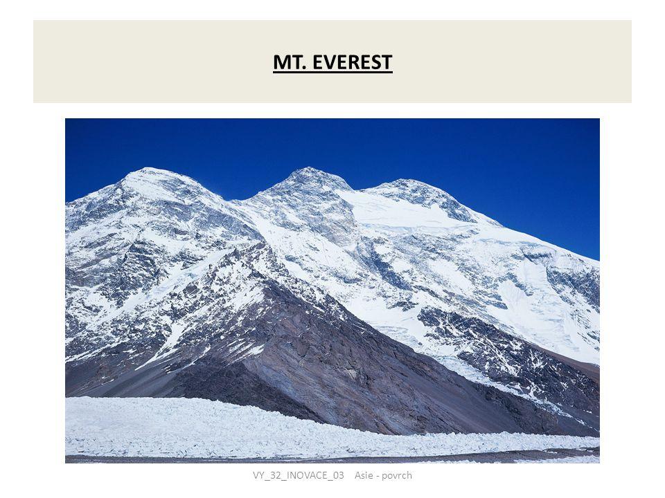  mezi jednotlivými horskými pásmy se rozkládají rozlehlé náhorní plošiny a pánve  největší z nich je Tibetská náhorní plošina a bezodtoková Tarimská pánev mezi Pamírem a Ťan-šanem  Tibetská náhorní plošina s průměrnou nadmořskou výškou 4000 – 5000 m je nejvyšší trvale osídlená náhorní plošina na světě  při jižním a východním pobřeží Asie a v údolích velkých řek se vytvořily rozsáhlé nížiny – Indoganžská, Mezopotámská, Velká čínská  všechny nížiny jsou hustě zalidněny a díky úrodným půdám mají velký hospodářský význam VY_32_INOVACE_03 Asie - povrch