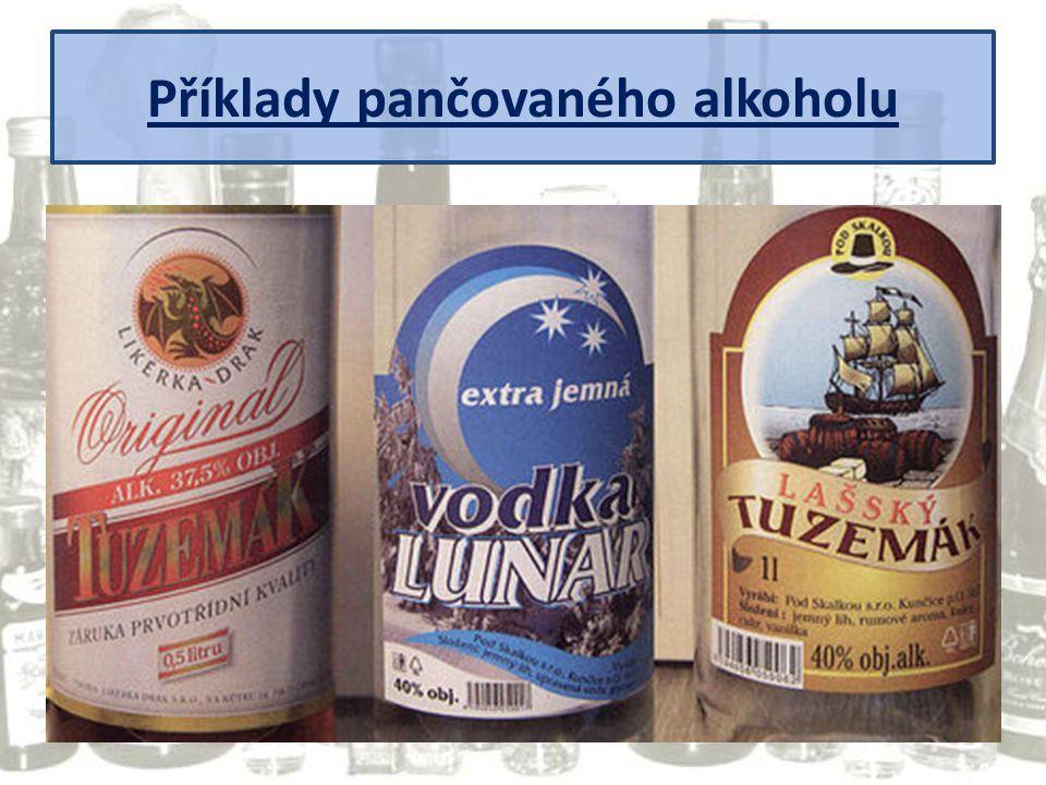 Příklady pančovaného alkoholu
