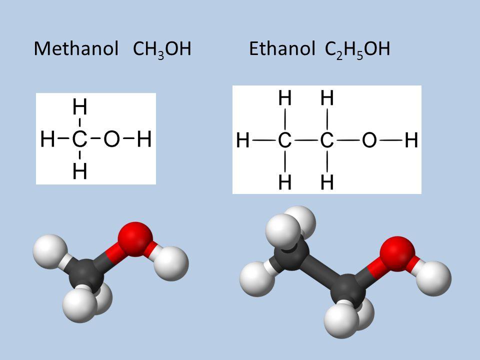 Methanol CH 3 OHEthanol C 2 H 5 OH