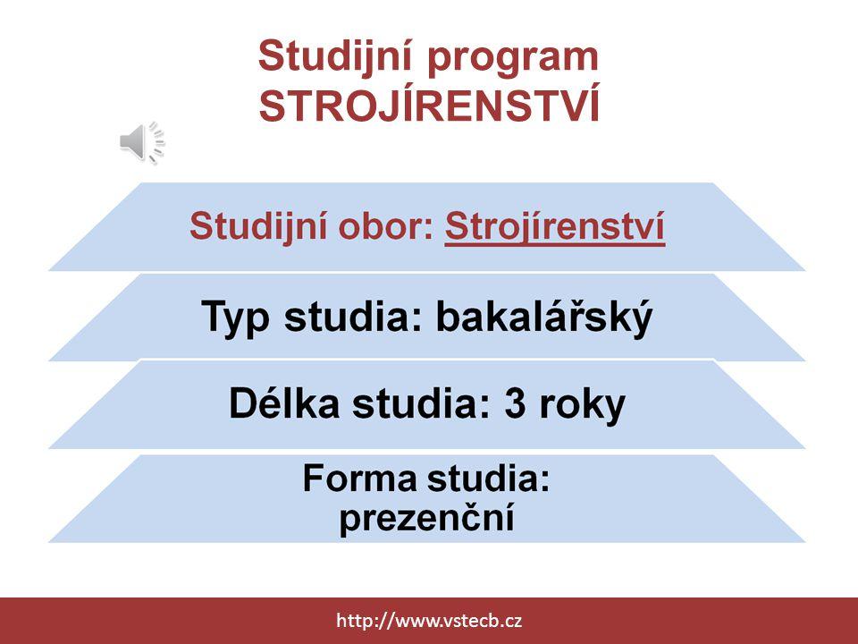 Studijní program DOPRAVNÍ TECHNOLOGIE A SPOJE http://www.vstecb.cz