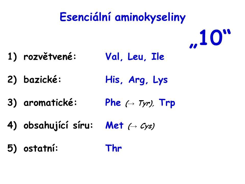 Vyberte aminokyseliny, z kterých může v těle člověka vznikat jiná aminokyselina a)valin → leucin b)aspartát → asparagin c)phenylalanin → tyrosin d)methionin + serin → cystein