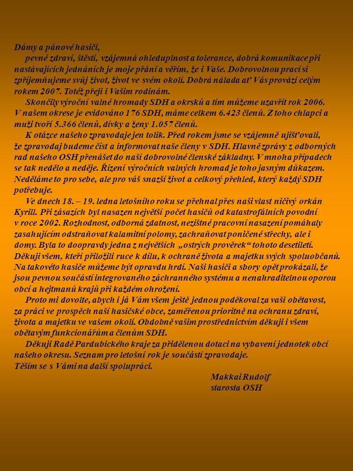 Hasičský záchranný sbor Pardubického kraje územní odbor Chrudim V letošním roce došlo a dochází k několika změnám, především organizačního charakteru, které jsou vyvolány zejména z důvodu ukončení služebního poměru dlouholetých příslušníků HZS ÚO Chrudim.