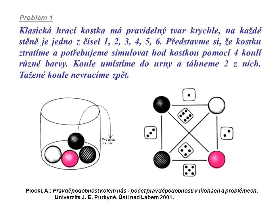 Klasická hrací kostka má pravidelný tvar krychle, na každé stěně je jedno z čísel 1, 2, 3, 4, 5, 6. Představme si, že kostku ztratíme a potřebujeme si