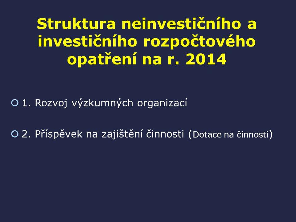 Struktura neinvestičního a investičního rozpočtového opatření na r.