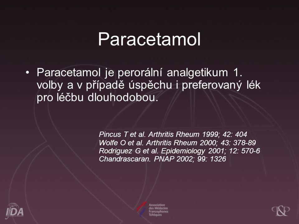 Závěry Adekvátní analgetická terapie –Paracetamol – analgetikum volby –NSA –Opioidy (slabé, středně silné) –Možná kombinace SYSADOA –U symptomatické OA II.-III.st.