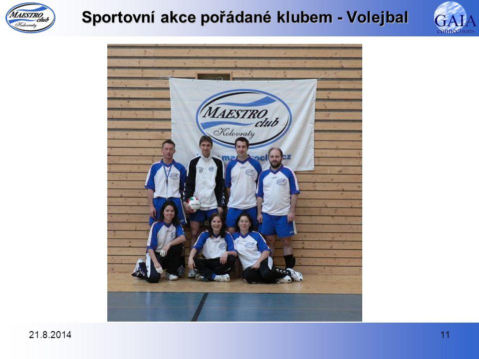 21.8.201411 Sportovní akce pořádané klubem - Volejbal