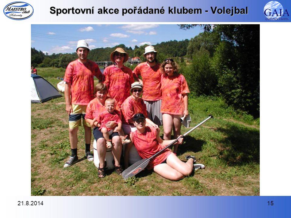 21.8.201415 Sportovní akce pořádané klubem - Volejbal