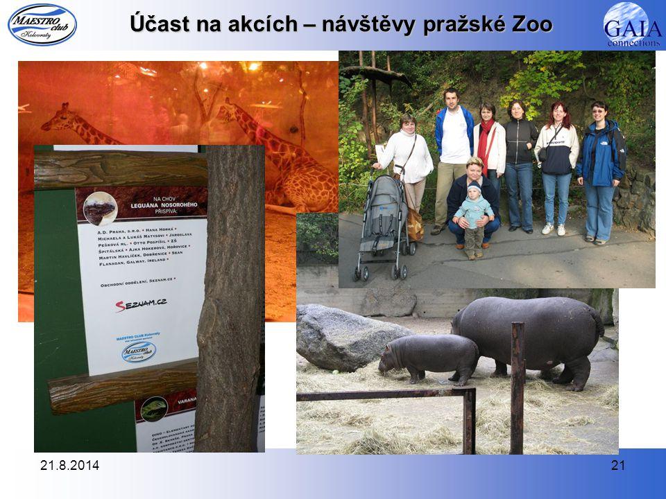 21.8.201421 Účast na akcích – návštěvy pražské Zoo