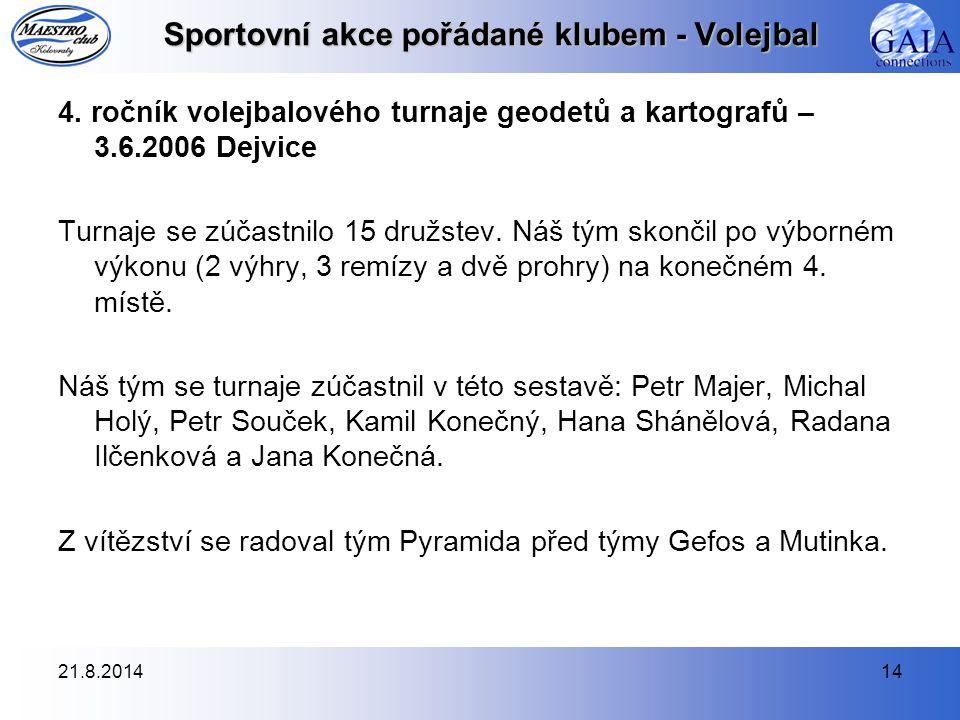 21.8.201414 Sportovní akce pořádané klubem - Volejbal 4.