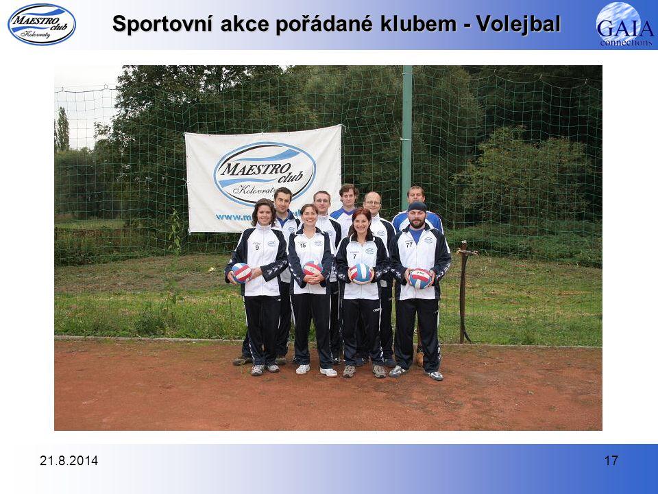 21.8.201417 Sportovní akce pořádané klubem - Volejbal