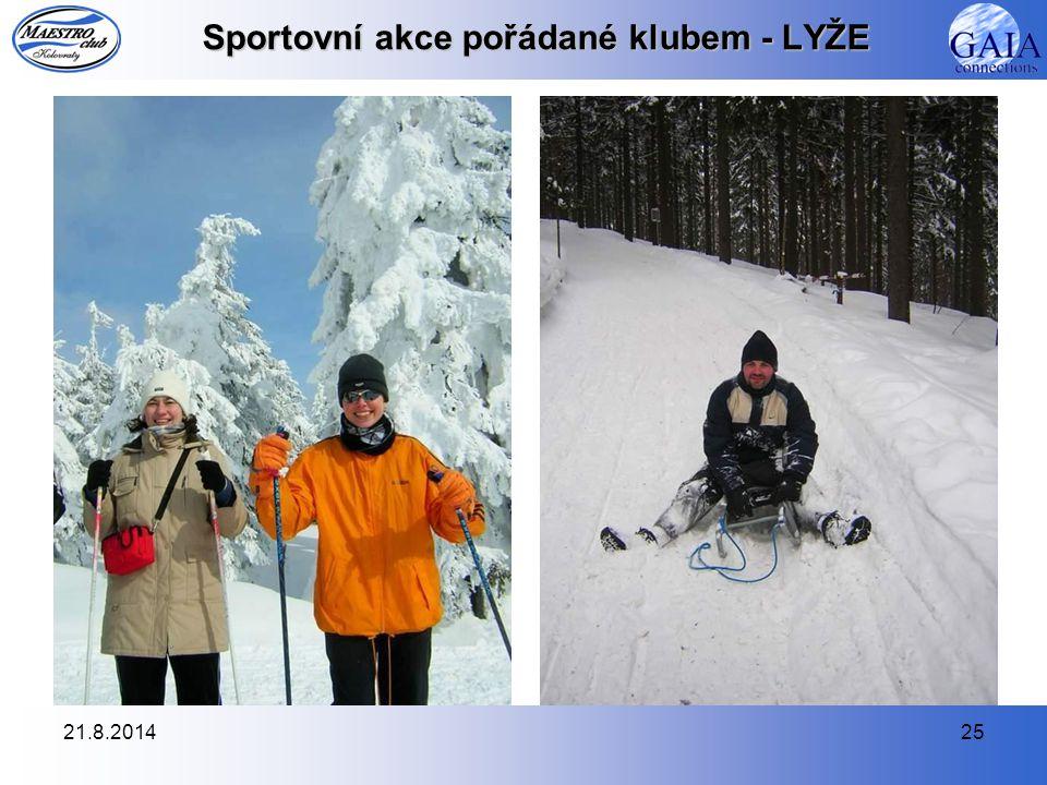 21.8.201425 Sportovní akce pořádané klubem - LYŽE