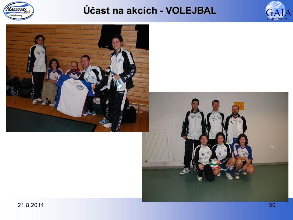 21.8.201450 Účast na akcích - VOLEJBAL