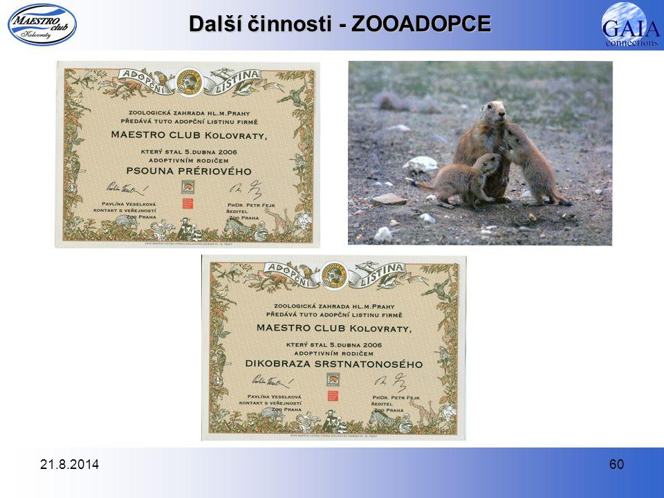 21.8.201460 Další činnosti - ZOOADOPCE