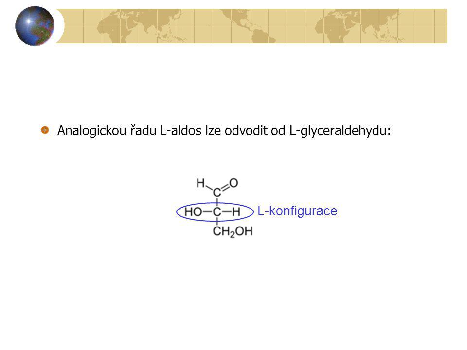Ketosy: CH 2 OH D-fruktosa keto skupina D-konfigurace Analogickou řadu L-ketos lze odvodit od L-erythrulosy