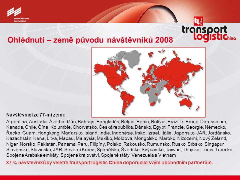 Ohlédnutí – země původu návštěvníků 2008 Návštěvníci ze 77-mi zemí: Argentina, Austrálie, Ázerbájdžán, Bahrajn, Bangladéš, Belgie, Benin, Bolívie, Bra